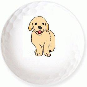 【ゴールデンレトリバー】のイラストを印刷してお届け!無地専用ゴルフ