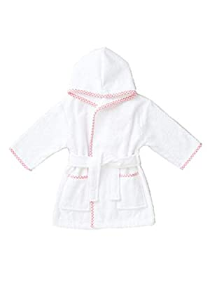 Cimaya Toddlers and Little Kids Terry Cotton Bathrobe Boys and Girls Hooded Sleep Robe