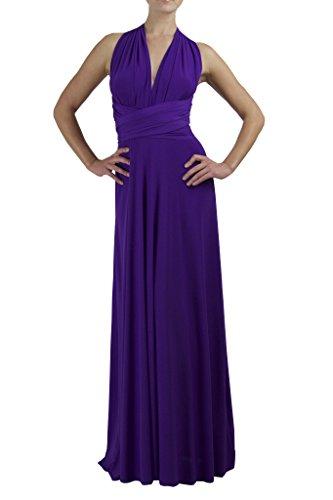 VonVonni Women's Transformer Dress,Purple,One Size Fits USA -