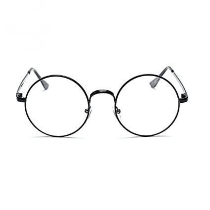 114303dd3 BuyWorld Vintage Style Women/Men Popular Round Metal Clear Lens Glasses  Frame Tdy Unisex Nerd Anti-Radiation Spectacles Eyeglass Frame: Amazon.in:  Home & ...