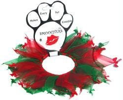 Christmas Pet Collar Dog Ribbon (Mirage Pet Products Collar 25-15 LG Christmas Bones Smoocher Large .)