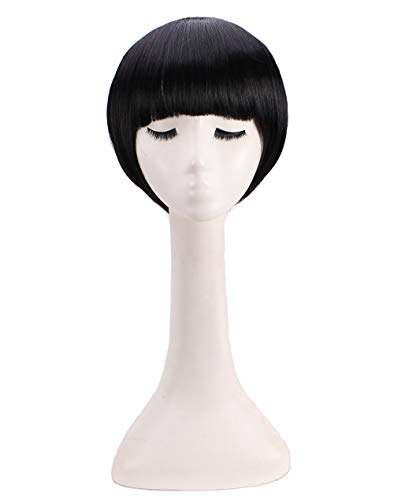 Man's Short Straight Nature Black Cosplay Wig for -