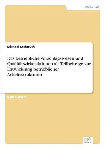 Read PDF Das betriebliche Vorschlagswesen (German Edition)
