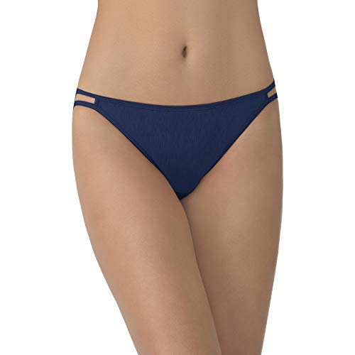(Vanity Fair Women's Illumination String Bikini Panty 18108, Admiral Navy,)