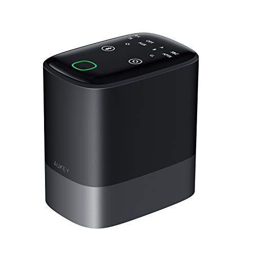 AUKEY Bluetooth 5.0 Transmitter Receiver 2-in-1 with 164ft Long Range, aptX Low Latency, Dual Links Wireless Audio Adapter for Headphones, TVs, Home Stereo Systems, and More