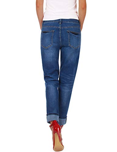 Boyfriend Donna Fraternel Blu Baggy Jeans UOfgfHqw