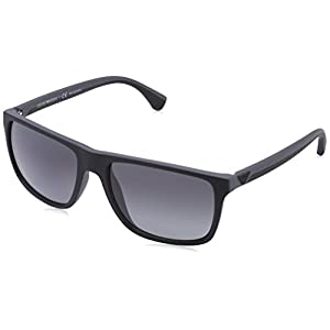 Emporio Armani EA 4033 Men's Sunglasses Black / Grey Rubber 56
