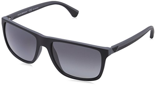 Emporio Armani EA 4033 Men's Sunglasses Black / Grey Rubber - Sunglasses Mens Armani