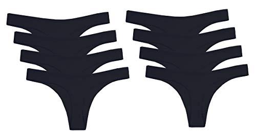 Couleur Pack Coton Bikini Respirant Strings 8 6 vêtements Femmes Abclothing Varier Noir Sous wExYqvX6