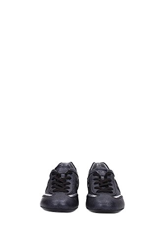 3UK Hogan and HXW05201687BY90353 Black Women Black Leather Sneakers Silver z7wUqH7x