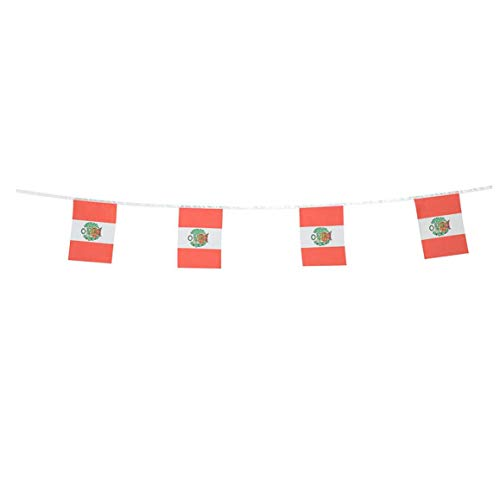 Peru Flags Peruvian Small String Flag Banner Mini National Country World Flags Pennant Banners For Party Events Classroom Garden Olympics Festival Grand Opening Bar Sports Clubs Celebration Decoration