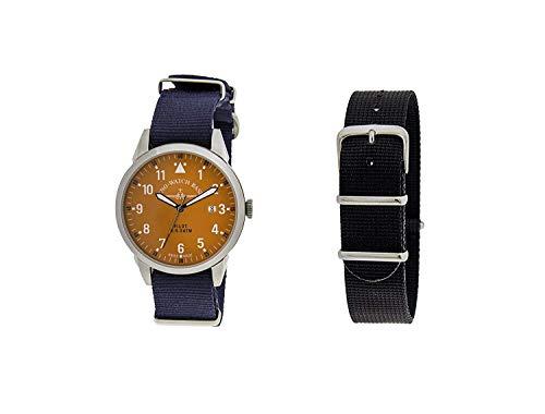 Zeno Pilot Orange Dial Canvas Strap Men's Watch ZE5231-2