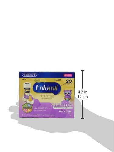 Enfamil Gentlease Infant Formula - Clinically Proven to reduce fussiness, gas, crying in 24 hours - Ready to Use Nursette Bottles, 2 fl oz (24 count) by Enfamil (Image #9)