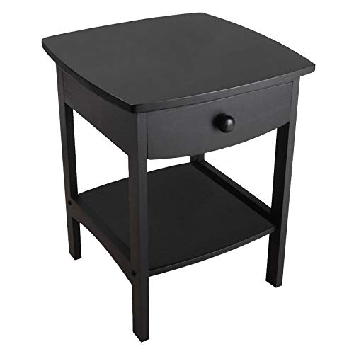 Winsome Wood Claire Accent Table, Black (Legs Sale For Table Wood)