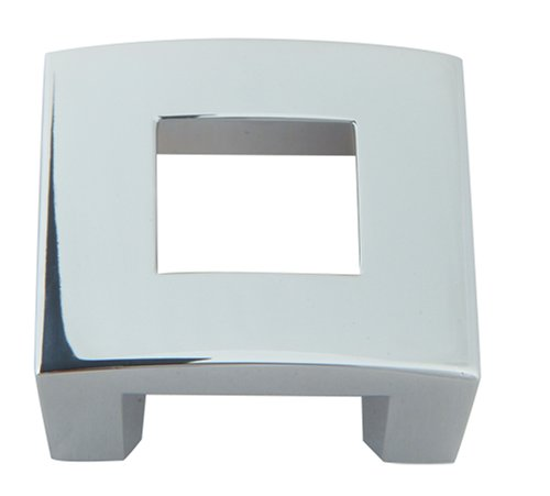 Atlas Homewares 255-CH 1-3/4-Inch The Moderns Collection Centinel Square Knob, Polished Chrome