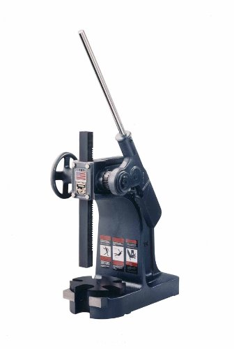 Dake-1-12-Model-Ratchet-Leverage-Arbor-Press-with-Handwheel-and-Counterweight-3-Ton-Capacity-115-Maximum-Working-Height-725-Length-x-18-Width-x-19-Height