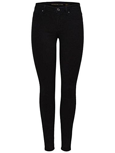 JACQUELINE de YONG Jdy de Only Pantalones Vaqueros de Mujer Leggings Jdynew Cinco Pant Dnm Negro
