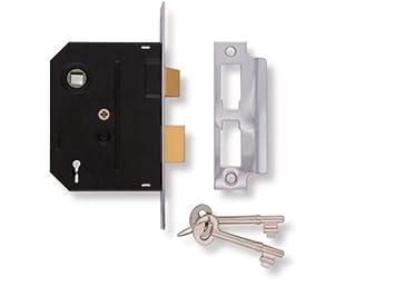 Union Locks 2295 2-Lever Mortice Sash-Lock 76mm - Chrome Finish UNNJ2295CH30