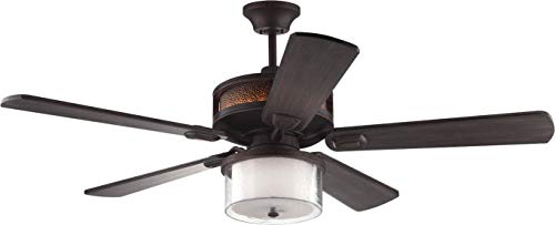 Monte Carlo 5AZR56RB Transitional 56``Ceiling Fan from Artizan Collection in Bronze/Dark Finish, See Image