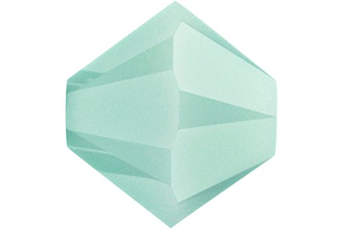 4mm Mint Alabaster 5301 Bi-cone Swarovski Crystal Beads - Pack Of - Austrian Crystal Alabaster