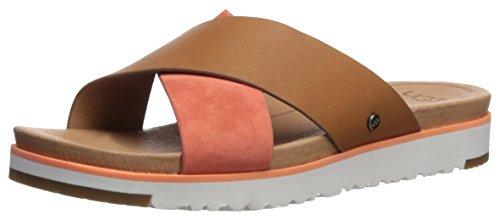 UGG Women's Kari Flat Sandal, Fusion Coral, 6 M (Ugg Women Sandals)