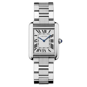 Cartier-Womens-W5200013-Tank-Solo-Stainless-Steel-Dress-Watch