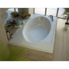 Spa World Venzi Vz4260vdr Viola Rectangular Air & Whirlpool Bathtub, 42x60, Left Drain, - Drain Oval Left