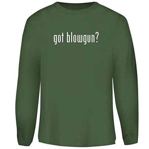 One Legging it Around got Blowgun? - Men's Funny Soft Adult Crewneck Sweatshirt, Military, Medium (Dart 625 Blow Gun)