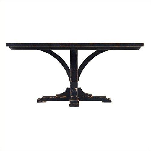 [Stanley Furniture Artisan Pedestal Dining Table in Ebony] (Rectangular Pedestal Dining Table)