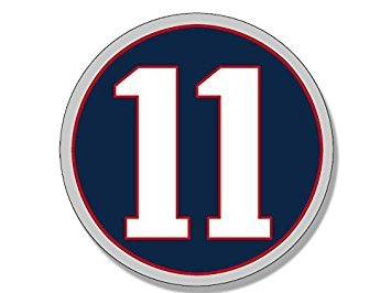 MAGNET Round #11 Julian Edelman Magnet(new england patriots number 11) Size: 4 x 4 inch ()