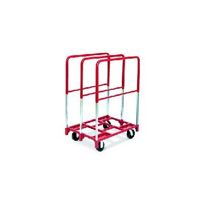 "Raymond 3854 Steel Panel Mover with 3 Extra Tall Upright and 5"" x 2"" Quiet Poly Caster, 2400 lbs Capacity, 38-1/2"" Length x 27-1/2"" Width"