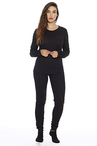 95862-Black-L Just Love Women's Thermal Underwear Set / Base Layer Thermals