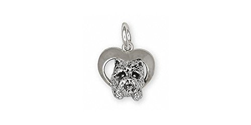 (Westie Charm Jewelry Sterling Silver Handmade West Highland White Terrier Charm WS3-C)