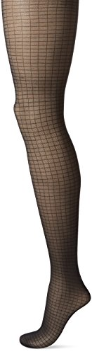 Calvin Klein Shimmer (Calvin Klein Women's Shimmer Mesh Grid Tights with Control Top, Black, C)