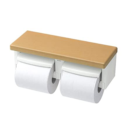 japanese toilet paper holder. TOTO Double Paper Holder  Natural Wood japan import Toilet