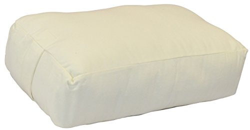 YogaAccessories (TM) Rectangular Cotton Yoga Bolster - Off White