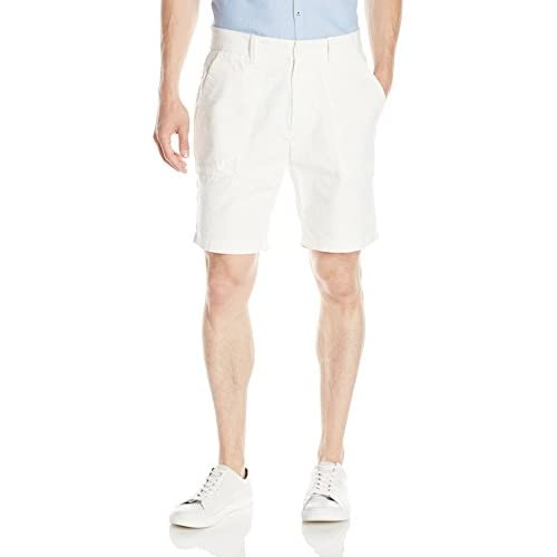 Nautica Men's Classic Fit Utility Short, Marshmallow, 42W