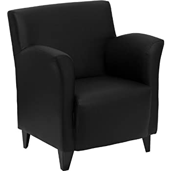 flash furniture hercules roman series black leather lounge chair