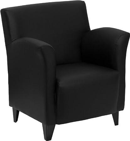 Superbe Flash Furniture HERCULES Roman Series Black Leather Lounge Chair