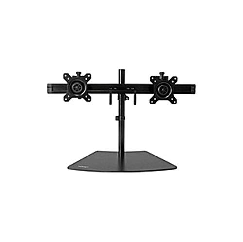 StarTech.com Dual Monitor Stand - Crossbar - Supports Monitors up to 24in - Vesa Mount - Adjustable Computer Monitor Arm - Up to 24in Screen Support - 35.27 lb Load Capacity - (Renewed)