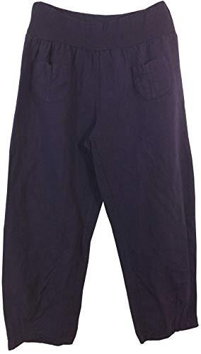 Fabriqué Pantalon Pour En Italie Lin Violet Femmes E1qIcd4W1