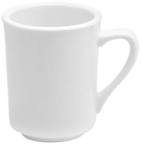 Oneida Foodservice F9000000560 Narrow Rim Mug-Delmonico, 8 oz, Cream White Porcelain, Set of 36 Cream White Narrow Rim