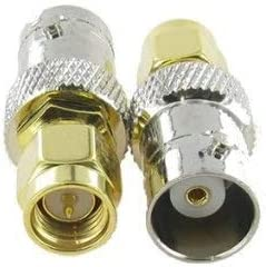 RF Coaxial Connectors Mercury/_Group 100PCS BNC Female Jack to SMA Male Plug RF Ccoaxial Adapter Connector