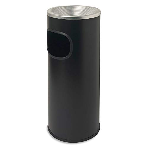 Ashtray Outdoor Cigarette Stand Fire Safe Receptacle Trash Bin Smoking Urn Steel Slim Removable Lid Stainless Steel Floor Standing Smoker Trash Can Indoor Shape Round & eBook by BADA Shop - Floor Standing Smoker