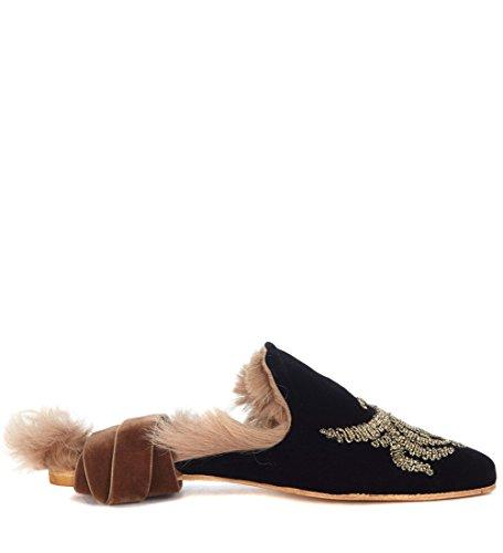 Filo D'oro Donna Gia Arabesque Couture Sabot Da Nero Balletto Velluto Con Sleep In PvxRqvnAt