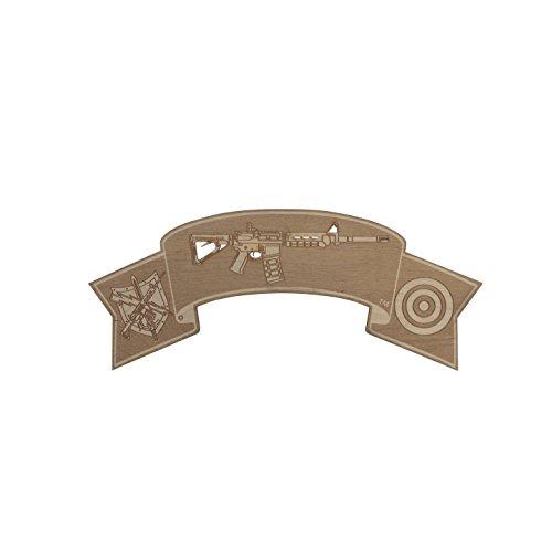 Wood Sign - Patrol Rifle Insignia