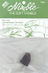 (Bulk Buy: Nimble Thimble Leather With Metal Tip Small NT-S)