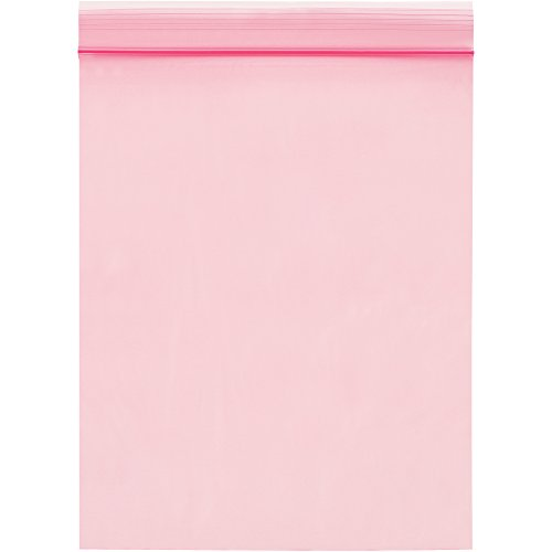 Boxes Fast BFPBAS715 Anti-Static 2 Mil Reclosable Poly Bags, 4'' x 8'', Pink (Pack of 1000) by Boxes Fast