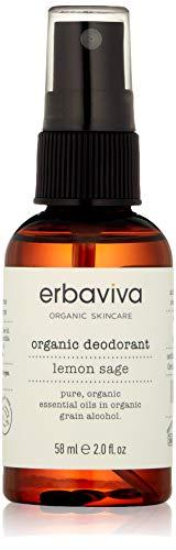 Lemon Sage Organic Deodorant - Erbaviva Lemon & Sage Organic Deodorant, 2 Fl Oz