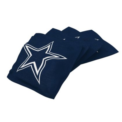 Wild Sports NFL Dallas Cowboys Navy Authentic Cornhole Bean Bag Set (4 Pack)